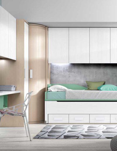 dormitorio juvenil con cama nido en pamplona