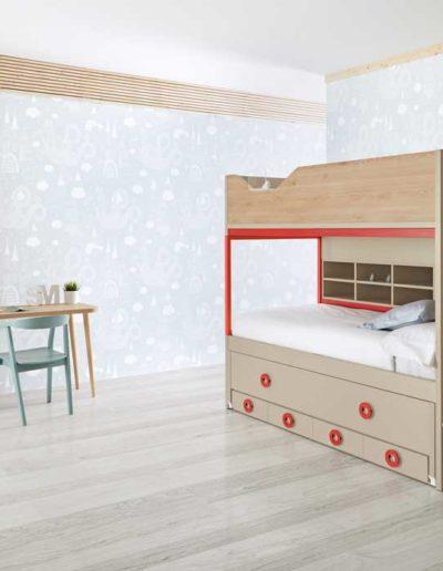 dormitorio juvenil con litera en pamplona