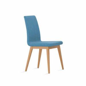 silla nórdica respaldo tapizado