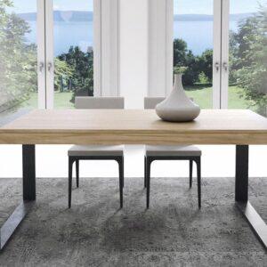mesa extensible pata hierro industrial